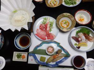 臨水亭の夕食
