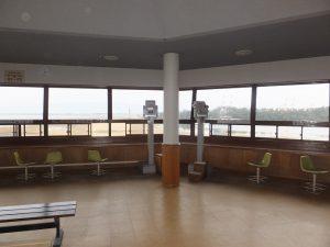 南港野鳥園の展望塔