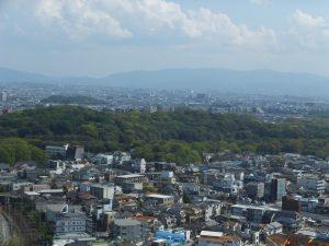 堺市役所展望ロビーから見た仁徳天皇陵