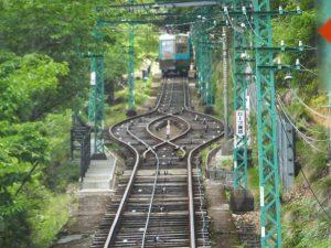 妙見の森ケーブル線路