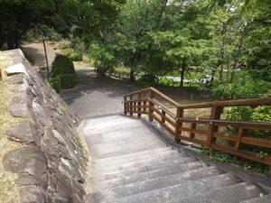 花菖蒲園へと続く階段