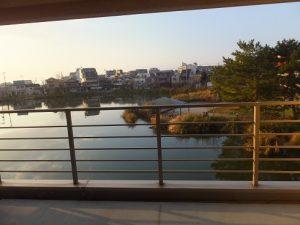 臨水亭の客室と見える景色