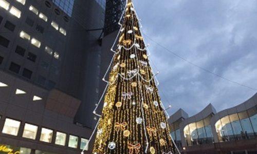 新梅田シティのクリスマスイルミ