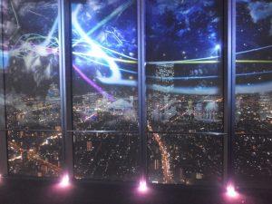 ハルカス展望台の3Dマッピング